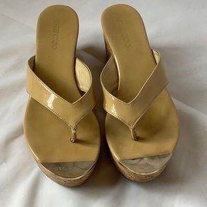 Jimmy Choi Cork Platform Sandals